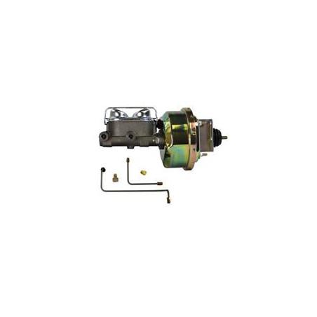 """Assistance de freinage 7"""" Zinc et Maitre cylindre double circuit - Ford Mustang 1964 1965 1966"""