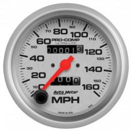 Compteur de vitesse blanc Auto Meter - MPH