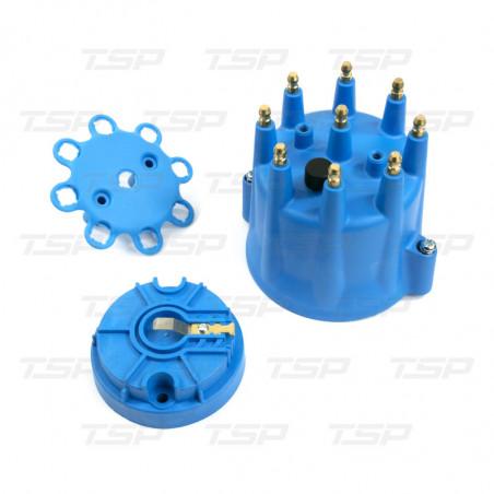 """Capuchon de distributeur et rotor bleu - V8 """"Pro-Series"""""""