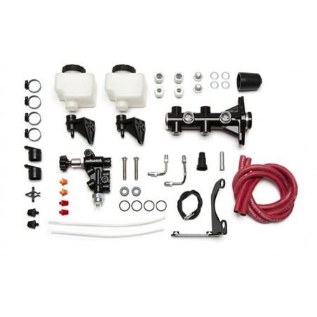 "Maître cylindre double circuit ""Tandem Remote"" avec support et valve Wilwood 261-14251-BK"