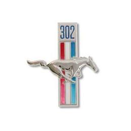 "Emblème 302 ""running horse"" - Ford Mustang 1968"