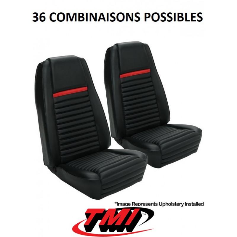 """Set d'habillage de sièges AV+AR standard MACH 1 """"highback"""" - Ford Mustang 1969"""