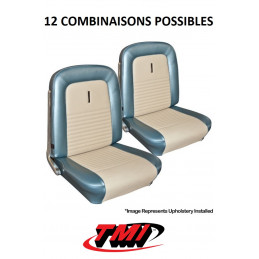 Set d'habillage de sièges AV+AR standard Deluxe - Ford Mustang 1967