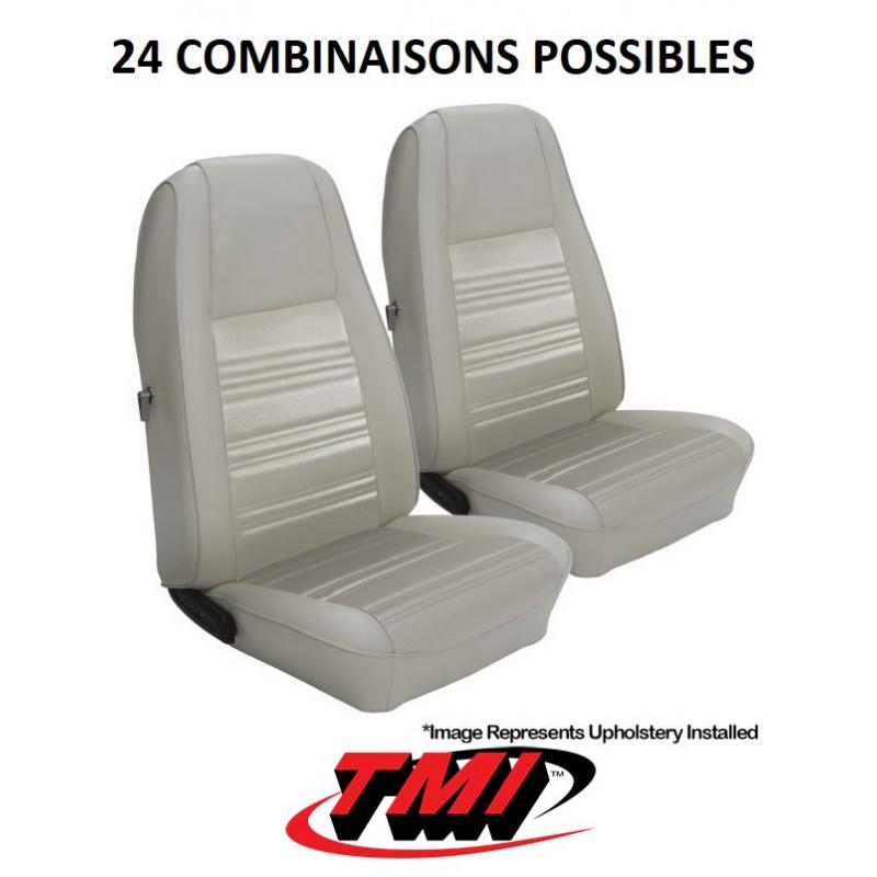Set d'habillage de sièges AV+AR standard - Ford Mustang 1970