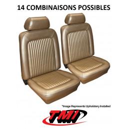 Set d'habillage de sièges AV+AR standard - Ford Mustang 1969