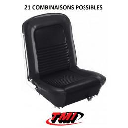 Set d'habillage de sièges AV+AR standard - Ford Mustang 1967