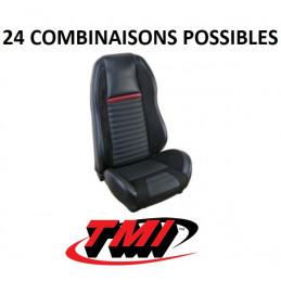"""Set d'habillage de sièges AV+AR Sport R MACH 1 """"highback"""" - Ford Mustang 1971 1972 1973"""