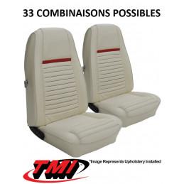 """Set d'habillage de sièges AV+AR MACH 1 """"highback"""" - Ford Mustang 1970"""