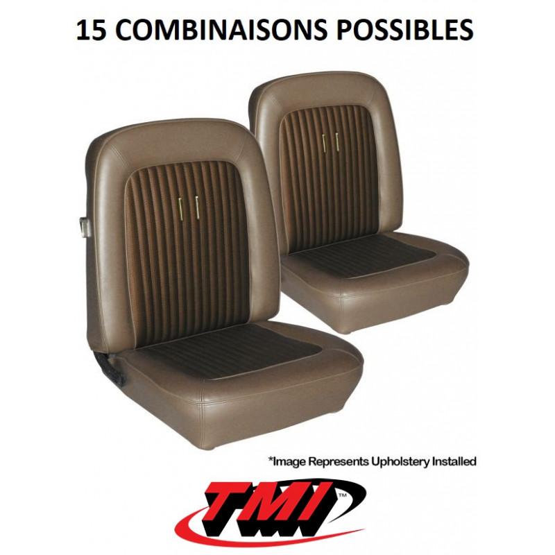 Set d'habillage de sièges AV+AR Deluxe - Ford Mustang 1968
