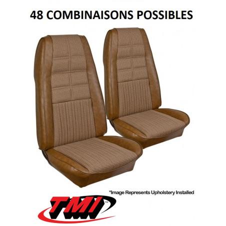 Set d'habillage de siège AV+AR Deluxe - Ford Mustang 1970