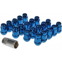 Set de 20 écrous de roue - Bleu anodisé - Dorman