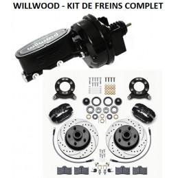 Kit de freins à disques WILWOOD complet 140-13476 avec assistance et maître cylindre WILWOOD