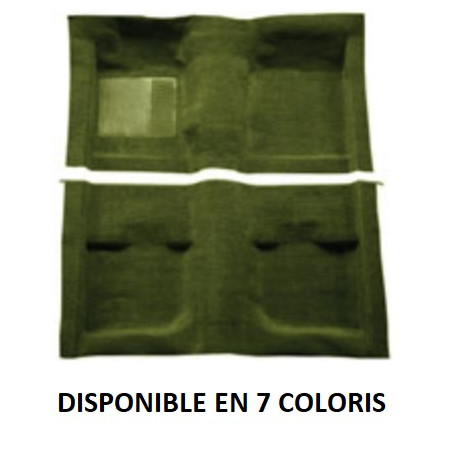 Moquette Nylon - Ford Mustang 1971 à 1973 - Cabriolet - Sans Mass backing