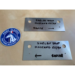Shelby Drop Ford Mustang1967 1970 - Plaques template