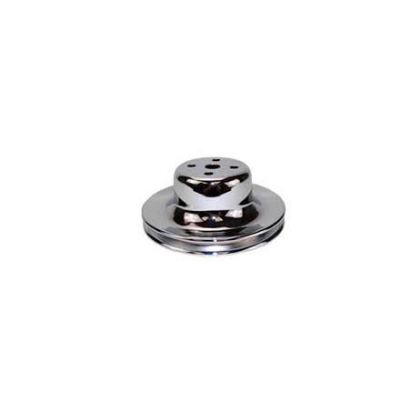 Poulie de pompe à eau 1 cran chrome - Ford V8 289 - 302 CI