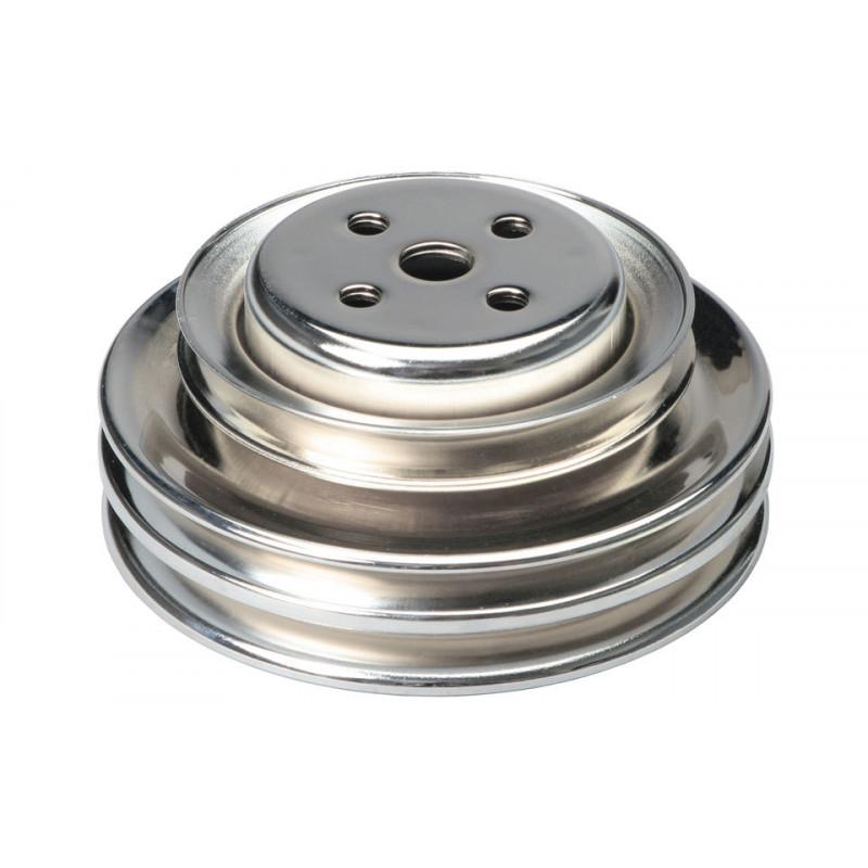 Poulie de pompe à eau 3 crans chrome HZ-9773C