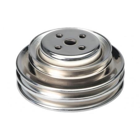 Poulie de pompe à eau 3 crans chrome - Ford V8 289 - 302 CI