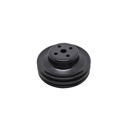 Poulie de pompe à eau 2 crans noir - Ford V8 289 - 302 CI